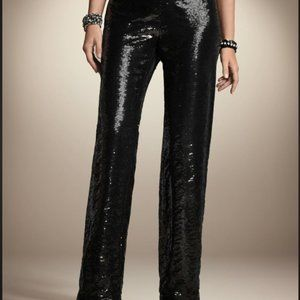 Formal Sequin Lined Black Pants CHICO'S 0.5
